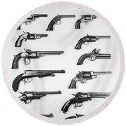 Pistols And Revolvers Round Beach Towel