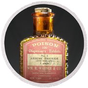Poison, Circa 1900 Round Beach Towel