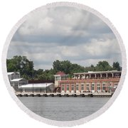 Port Of Rochester Round Beach Towel