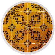Portuguese Tiles Round Beach Towel