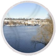 Prague Czech Republic Round Beach Towel