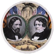 Presidential Campaign, 1856 Round Beach Towel