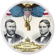Presidential Campaign, 1868 Round Beach Towel