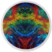Primary Abstract IIi Design Round Beach Towel
