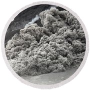 Pyroclastic Flow Descending The Flank Round Beach Towel