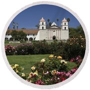 Queen Of The Spanish Missions Round Beach Towel