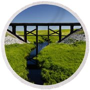 Railroad Trestle Round Beach Towel