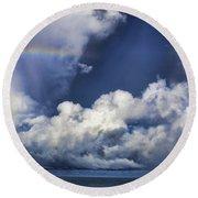 Rainbow Cloud V5 Round Beach Towel
