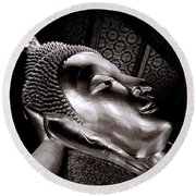 Reclining Buddha Round Beach Towel