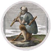 Recorder, 1723 Round Beach Towel