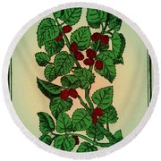 Red Mulberry Round Beach Towel