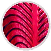 Red Ribs Round Beach Towel