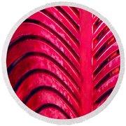 Red Ribs Round Beach Towel
