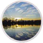 Reflections Round Beach Towel by Brian Wallace