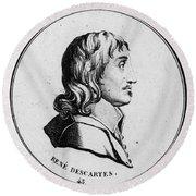 Rene Descartes, French Polymath Round Beach Towel