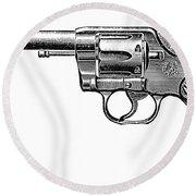Revolver, 19th Century Round Beach Towel