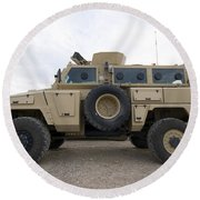 Rg-31 Nyala Armored Vehicle Round Beach Towel