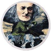 Richard Owen, English Paleontologist Round Beach Towel