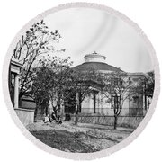 Richmond: Church, 1865 Round Beach Towel