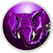 Ringo Party Animal Purple Round Beach Towel