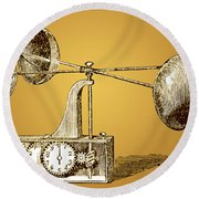 Robinsons Anemometer, 1846 Round Beach Towel
