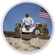 Robonaut 2 Poses Atop Its New Wheeled Round Beach Towel by Stocktrek Images
