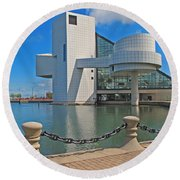 Rock And Roll Hall Of Fame Round Beach Towel