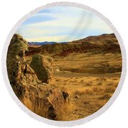 Rocky Painted Hills Round Beach Towel