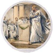 Roman Senate: Catiline Round Beach Towel