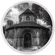 Round Church Of The Holy Sepulchre Round Beach Towel