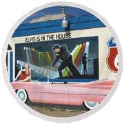 Route 66 Elvis Round Beach Towel