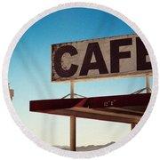 Roy's Cafe Round Beach Towel
