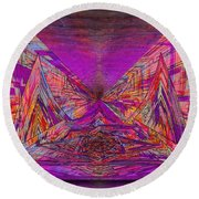 Rumblings Within Round Beach Towel