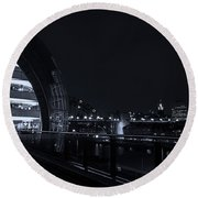 Sage Gateshead At Night Round Beach Towel
