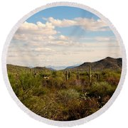 Saguaro National Park Az Round Beach Towel