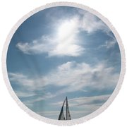 Sailing Round Beach Towel