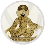 Saladin, Sultan Of Egypt And Syria Round Beach Towel