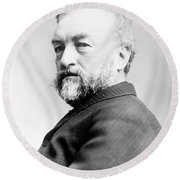 Samuel Langley, American Astronomer Round Beach Towel