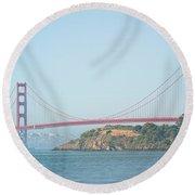 San Francisco Harbour Round Beach Towel