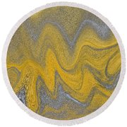 Sand Abstract Round Beach Towel