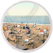 Sand Castles, C1895 Round Beach Towel