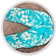 Sandals Round Beach Towel