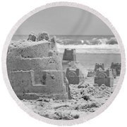 Sandcastle  Round Beach Towel