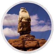 Santa Clause At Canyonlands National Park Round Beach Towel