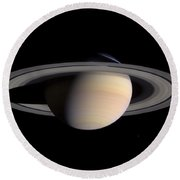 Saturn Round Beach Towel