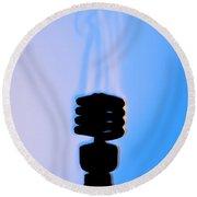 Schlieren Image Of A Hot Light Bulb Round Beach Towel