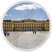 Schonbrunn Palace - Vienna Round Beach Towel