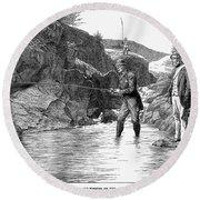 Scotland: Fishing, 1880 Round Beach Towel