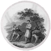 Scott: Ivanhoe, 1832 Round Beach Towel