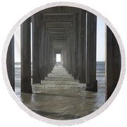 Scripps Pier La Jolla California 5 Round Beach Towel